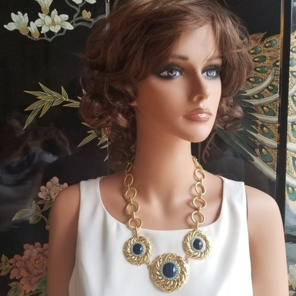 """Lilly Pultizer Gold """"The Vias"""" Statement Necklace"""